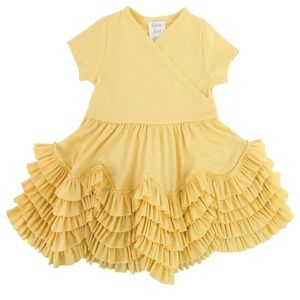 LEMON LOVES LIME LAYETTE GIRLS FLUTTER DRESS
